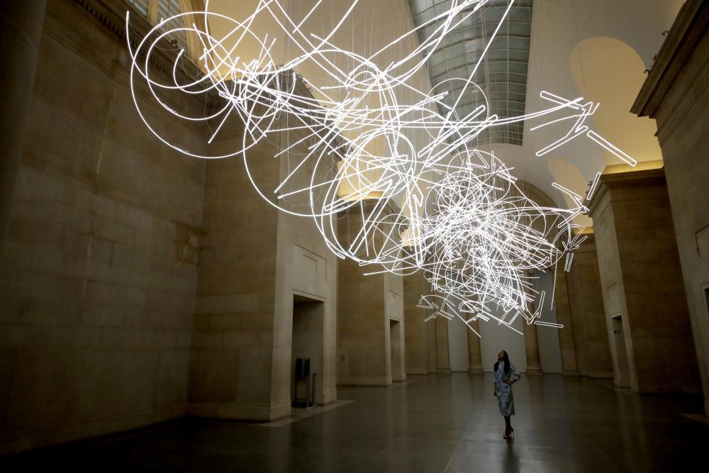 Forms in Space: and Light (in Time) by Cerith Wyn Evans at Tate Britain.