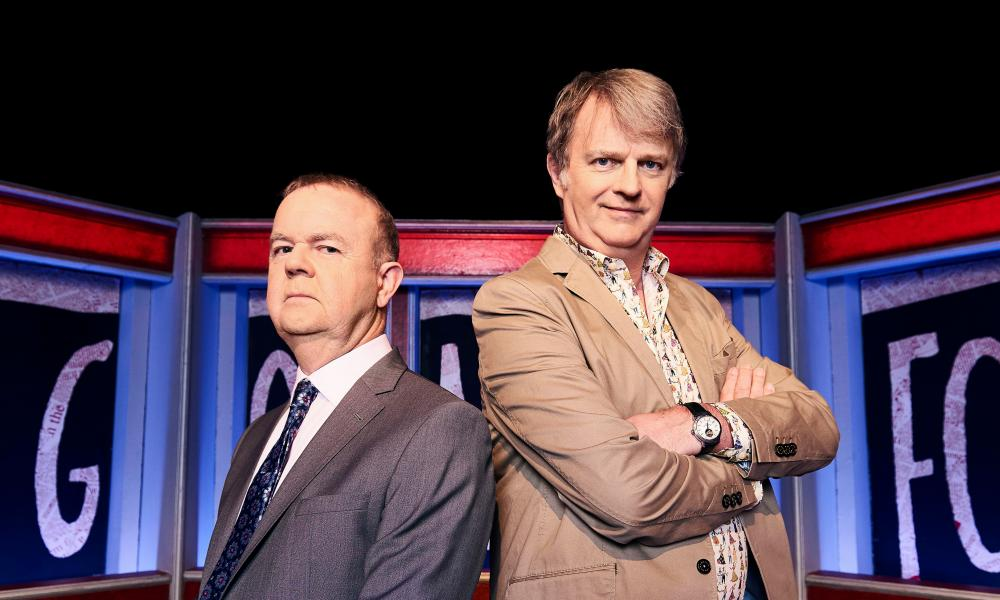 62 not out … Ian Hislop and Paul Merton.