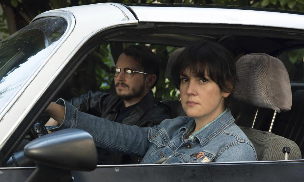 Elijah Wood and Melanie Lynskey in I Don't Feel at Home in This World Anymore.
