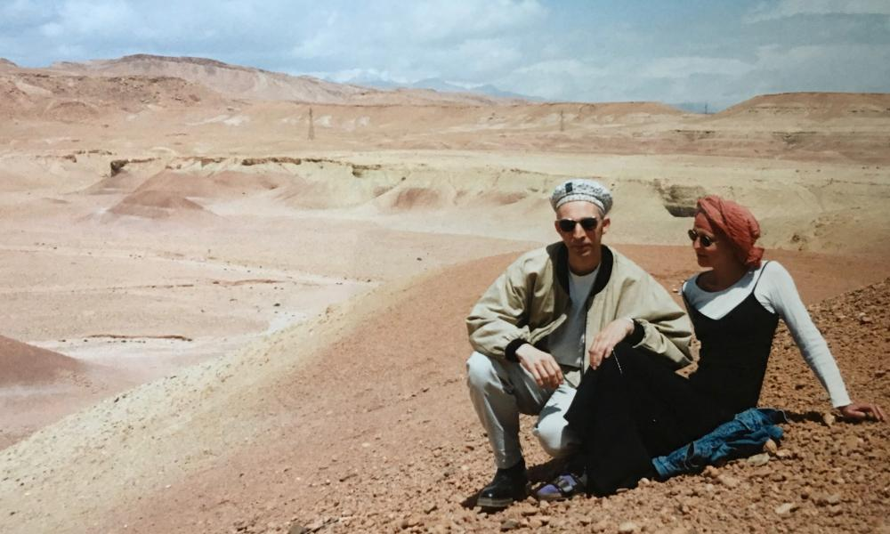 Rupert Thomson and girlfriend (now wife), Katharine Norbury, in Morocco