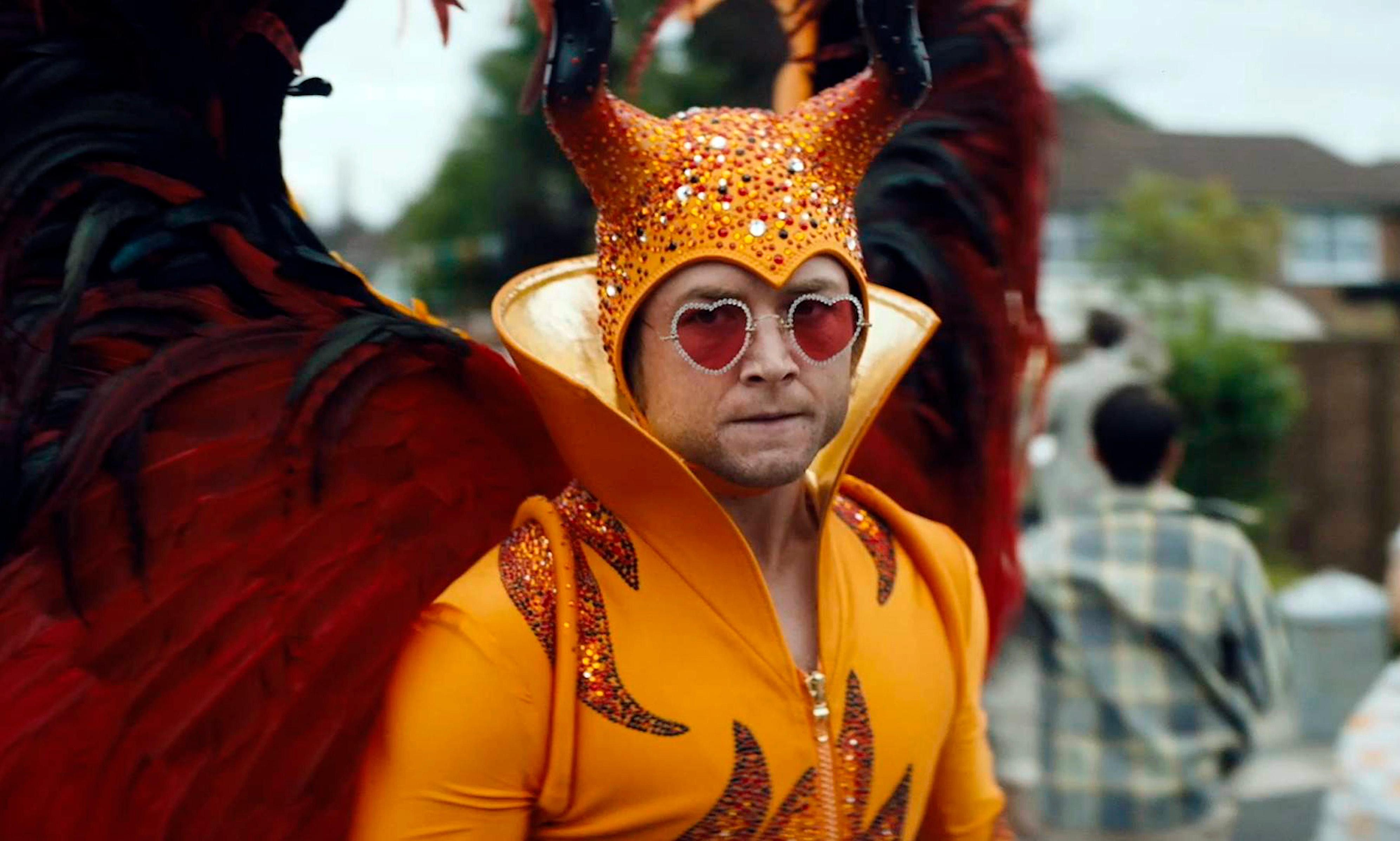 Rocketman review – Elton John biopic that's better at the tiaras than the tantrums