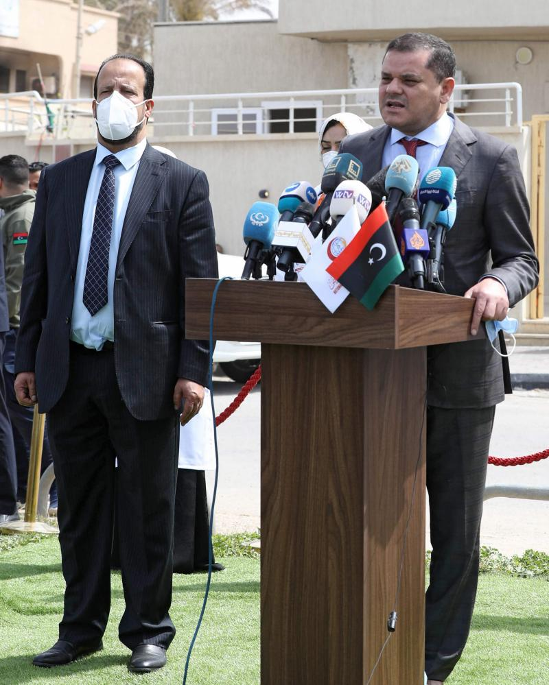 Libyan Prime Minister Abdelhamid Dbeibah, and Health Minister Ali al-Zenati.