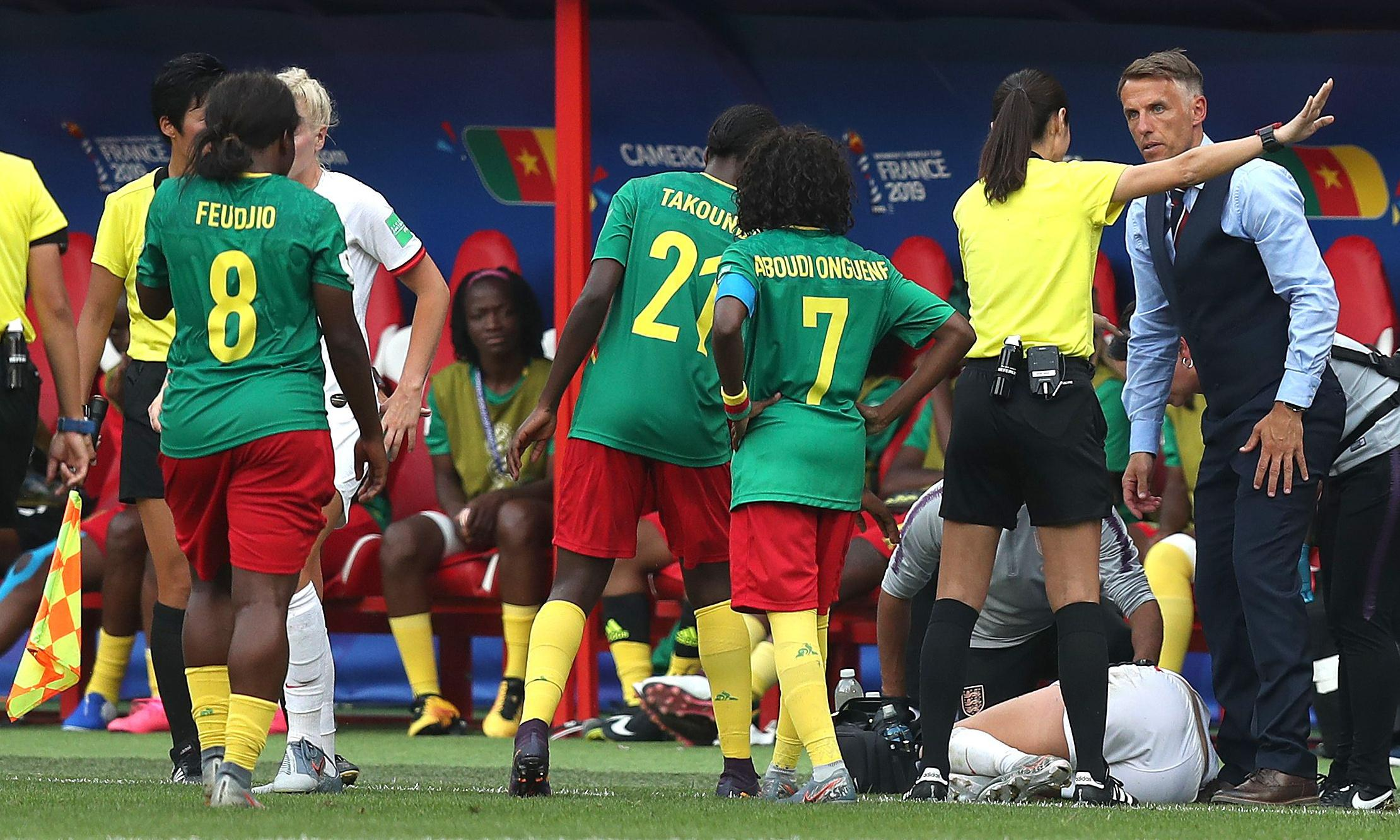 England's Phil Neville accuses Cameroon of 'shaming football'