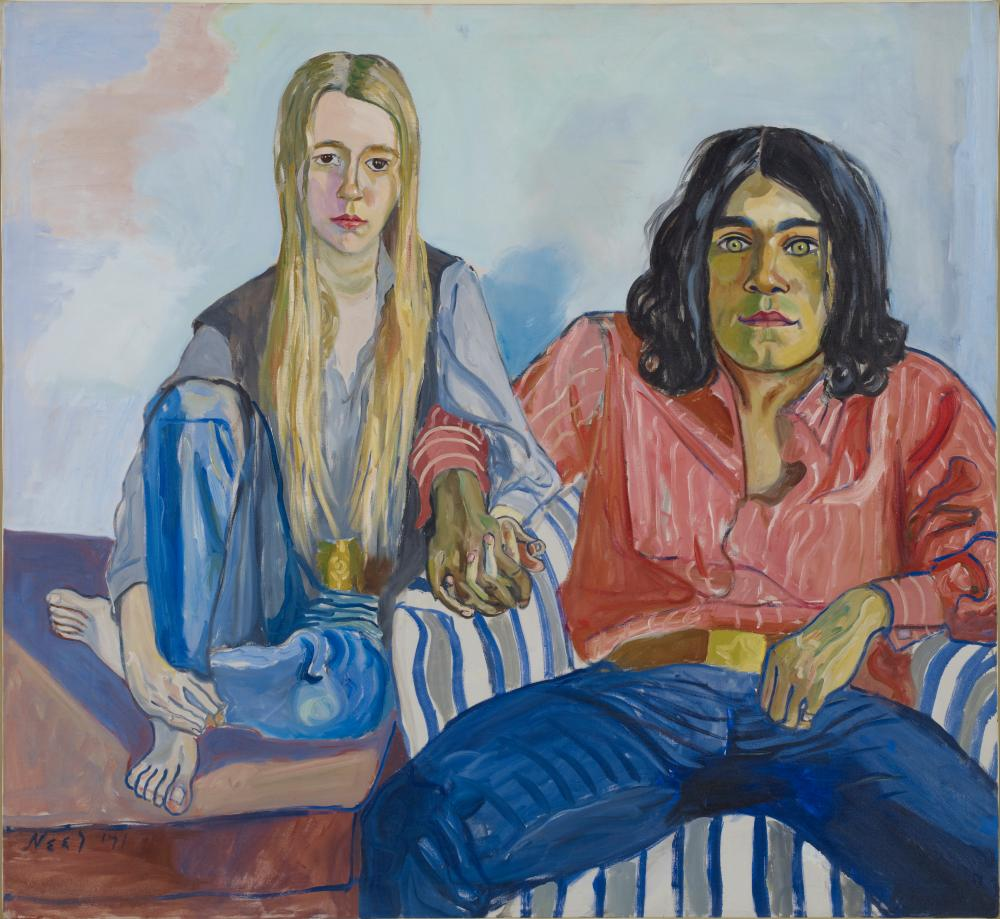 Ian and Mary, 1971 by Alice Neel  at Talbot Rice Gallery.