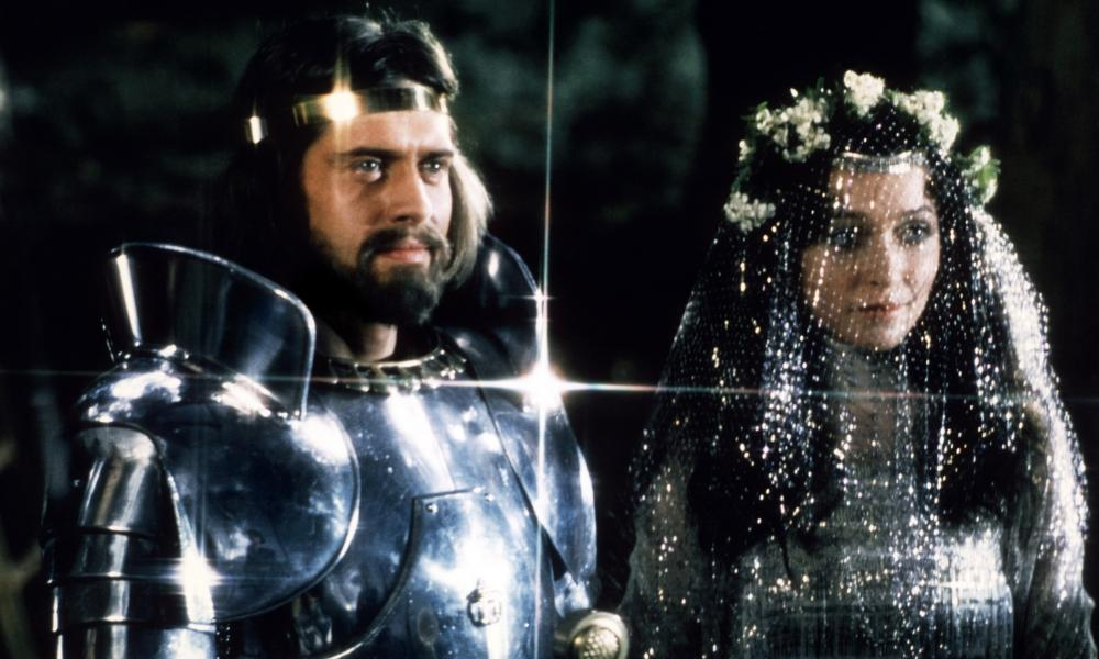 A fine growth ... Nigel Terry as King Arthur with Cherie Lunghi as Guenevere in Excalibur. Photograph: Allstar/Warner Bros.