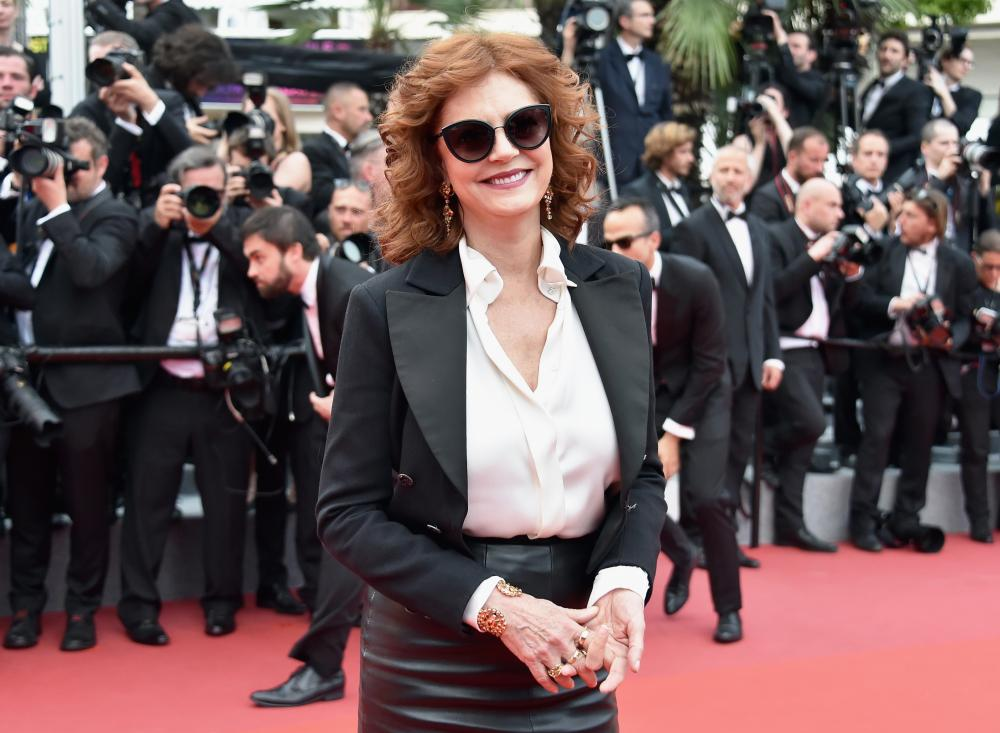 Sarandon rocking the red carpet at Cannes.