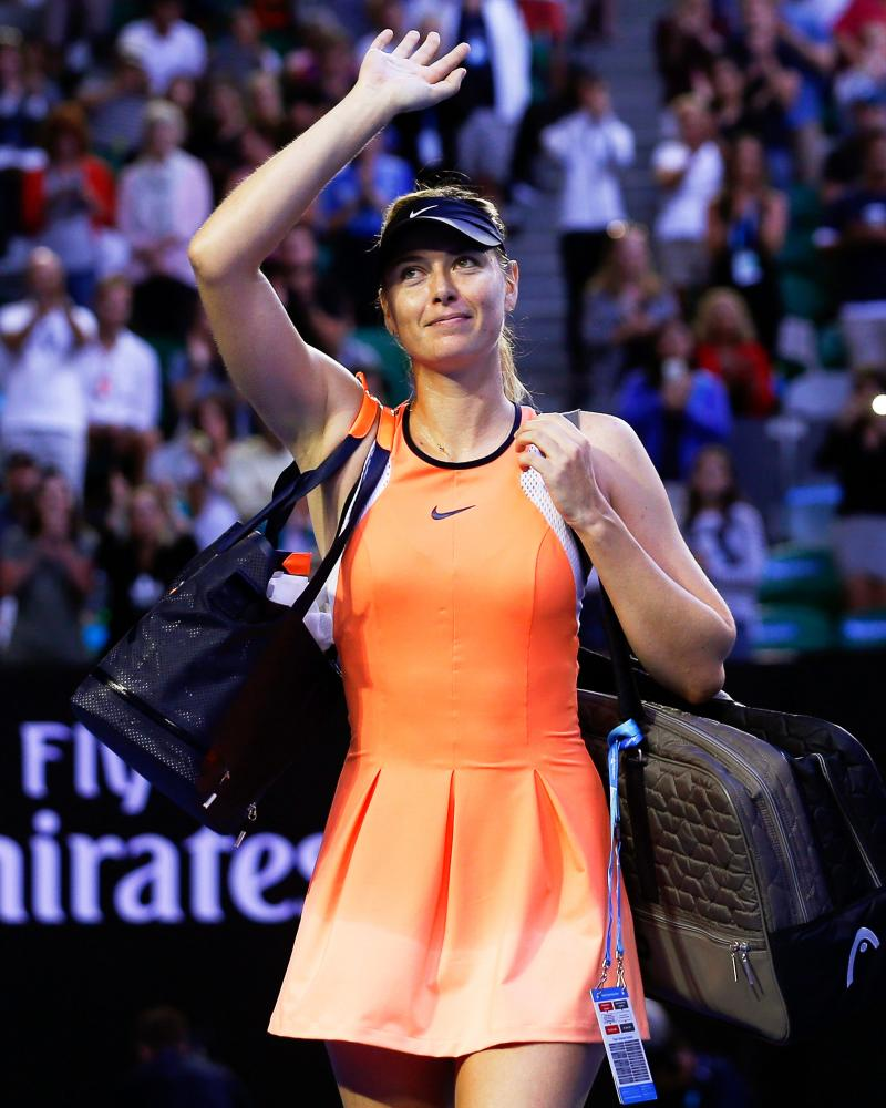 Banned tennis player Maria Sharapova