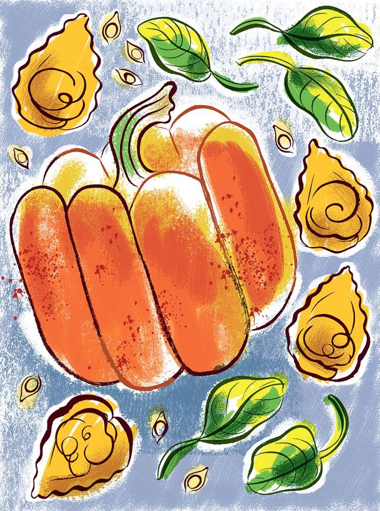 Pumpkin tortelli chosen by Massimo Bottura