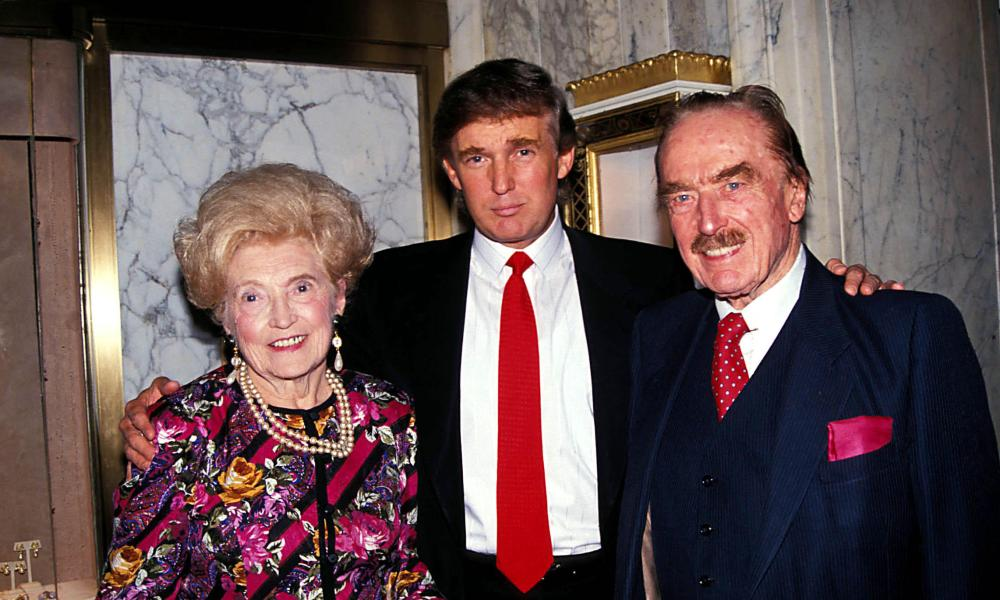 Donald Trump with his parents, Mary and Fred.