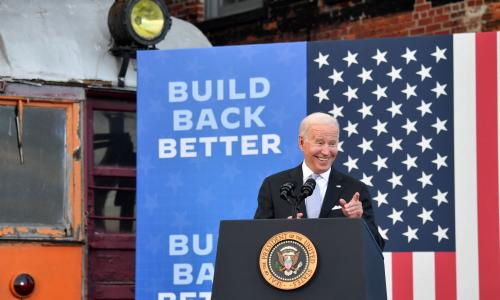 Biden visits home town of Scranton to pitch huge investment agenda –as it happened