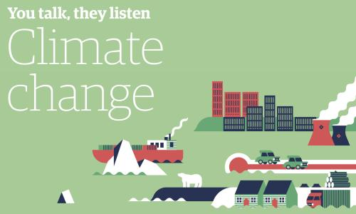 You talk, they listen: Climate change