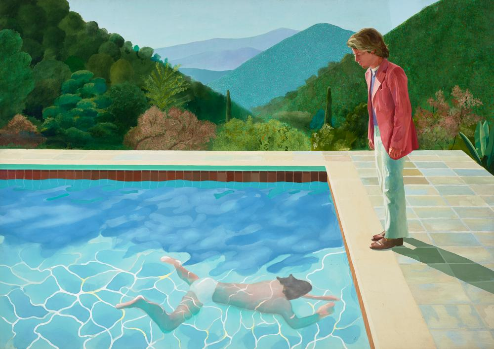 Portrait of an Artist (Pool with Two Figures), 1972.