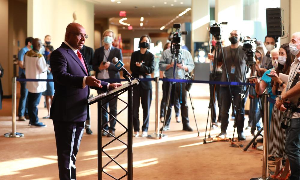 Abdulla Shahid, president of the 76th session of the United Nations general assembly,