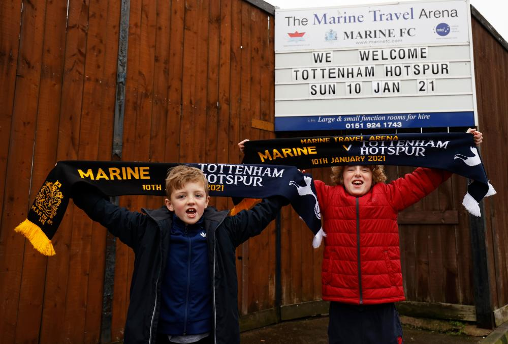Local fans look forward to Sunday's FA Cup third-round tie with Premier League Totttenham.