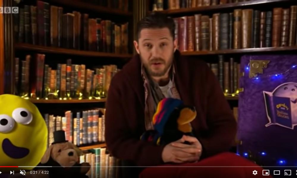 Tom Hardy reads out a CBeebies bedtime story during a previous appearance