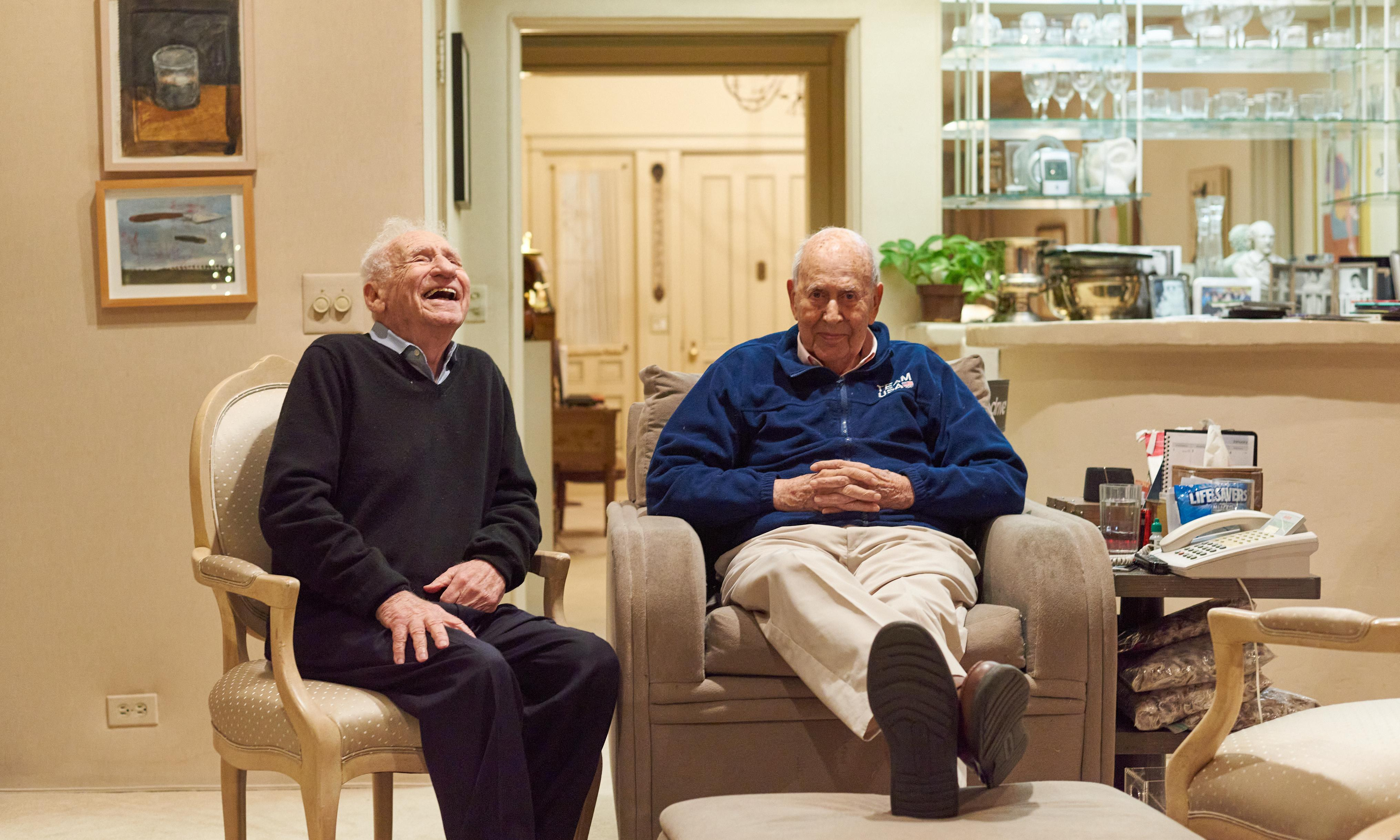 'Love and free food': Mel Brooks and Carl Reiner share the secrets of their 70-year friendship