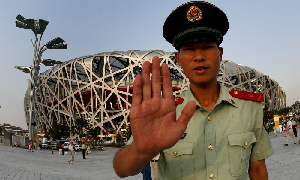 "China's National Stadium in Beijing, known as ""the Bird's Nest"""