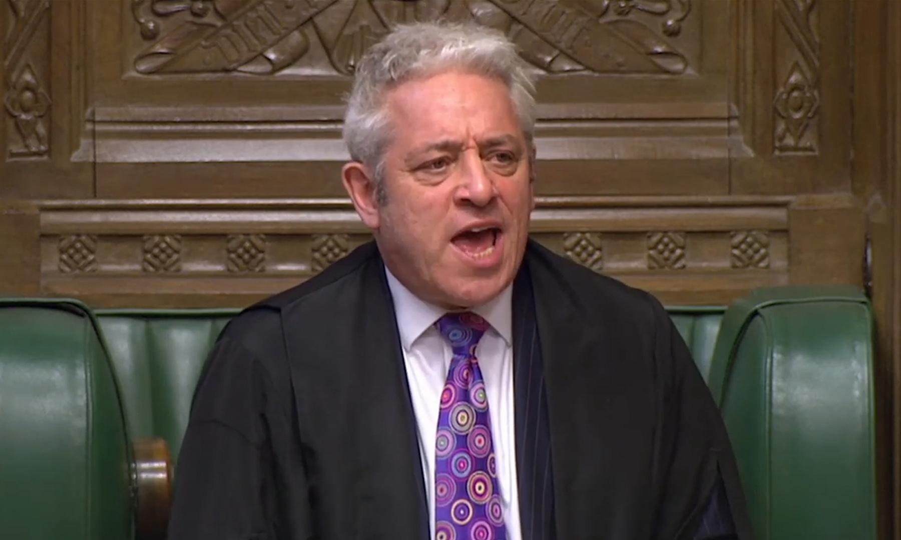 Next Tory PM will not be able to suspend parliament – Bercow