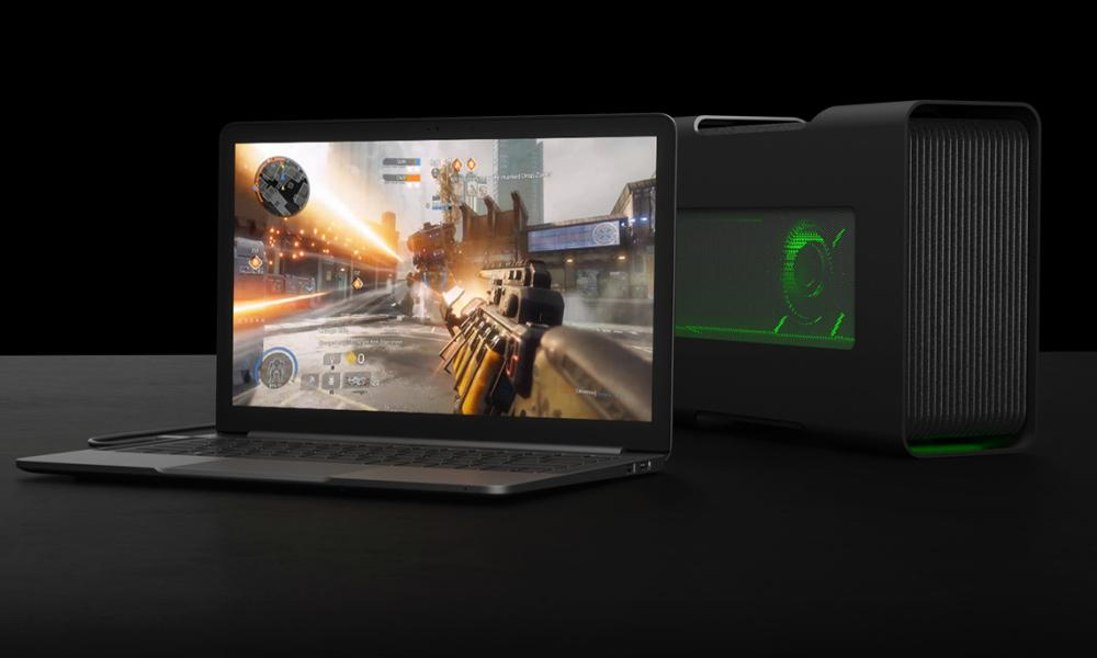 razer blade stealth with core external GPU