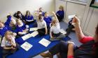 BRBAXW Phonics reading classes at a primary school in Devon, UK.