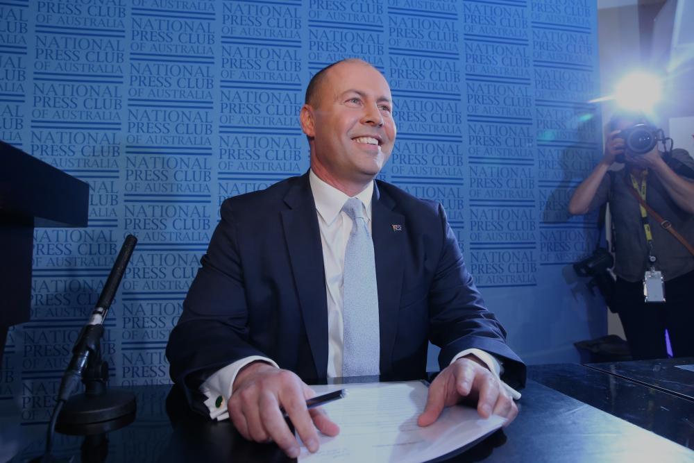 Treasurer Josh Frydenberg prepares to deliver the traditional budget day address to the National Press Club.