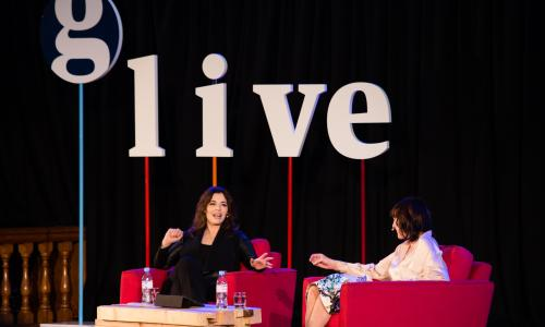 Nigella Lawson, talking with Zoe Williams at a Guardian Live in London.