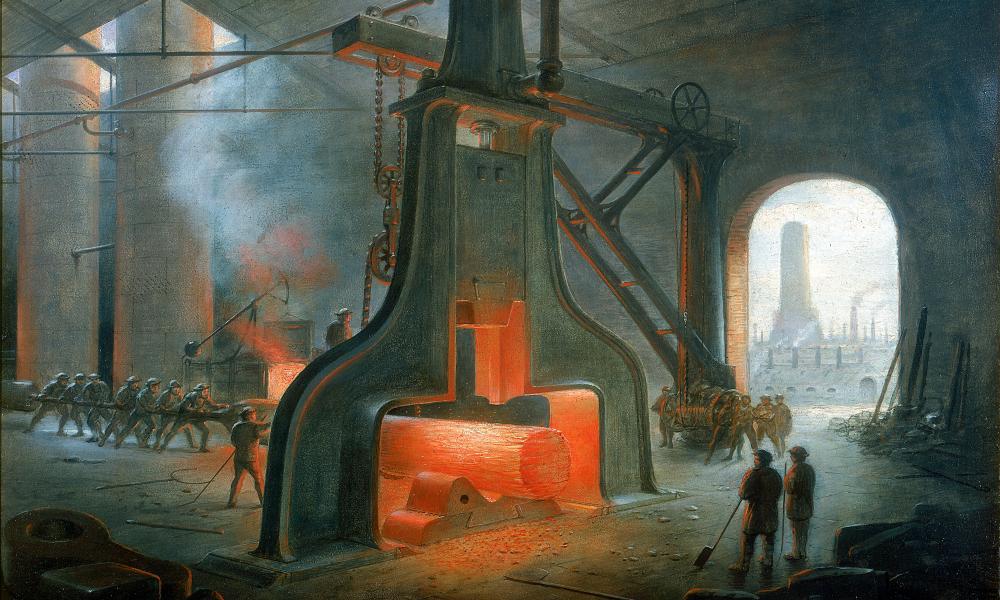 James Nasmyth's foundry near Manchester in 1832.