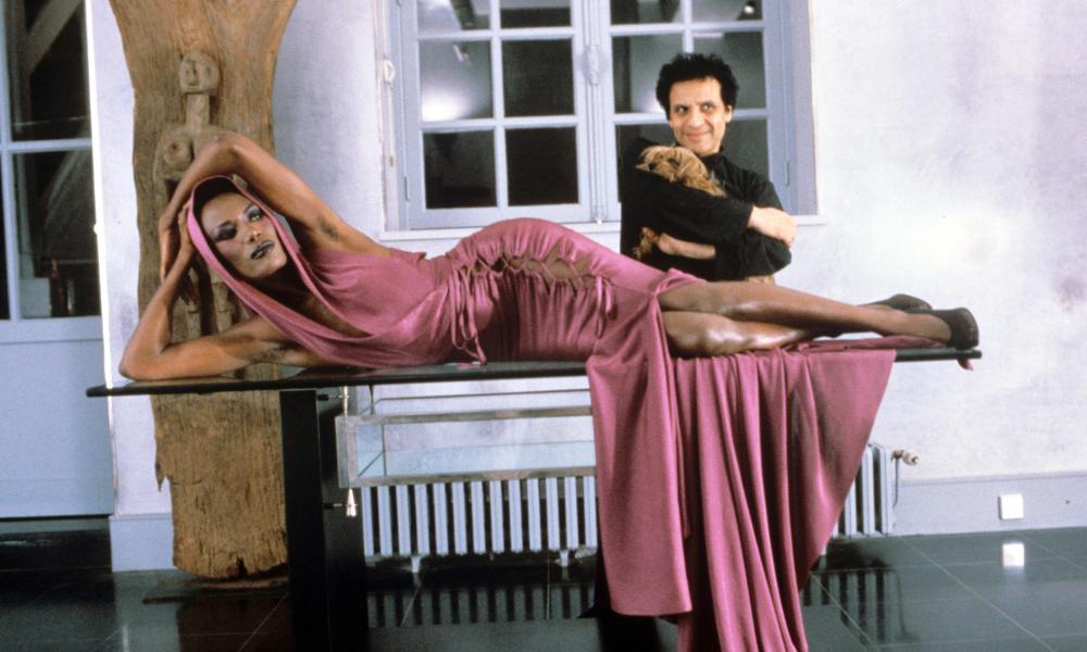 Azzedine Alaïa with Grace Jones.