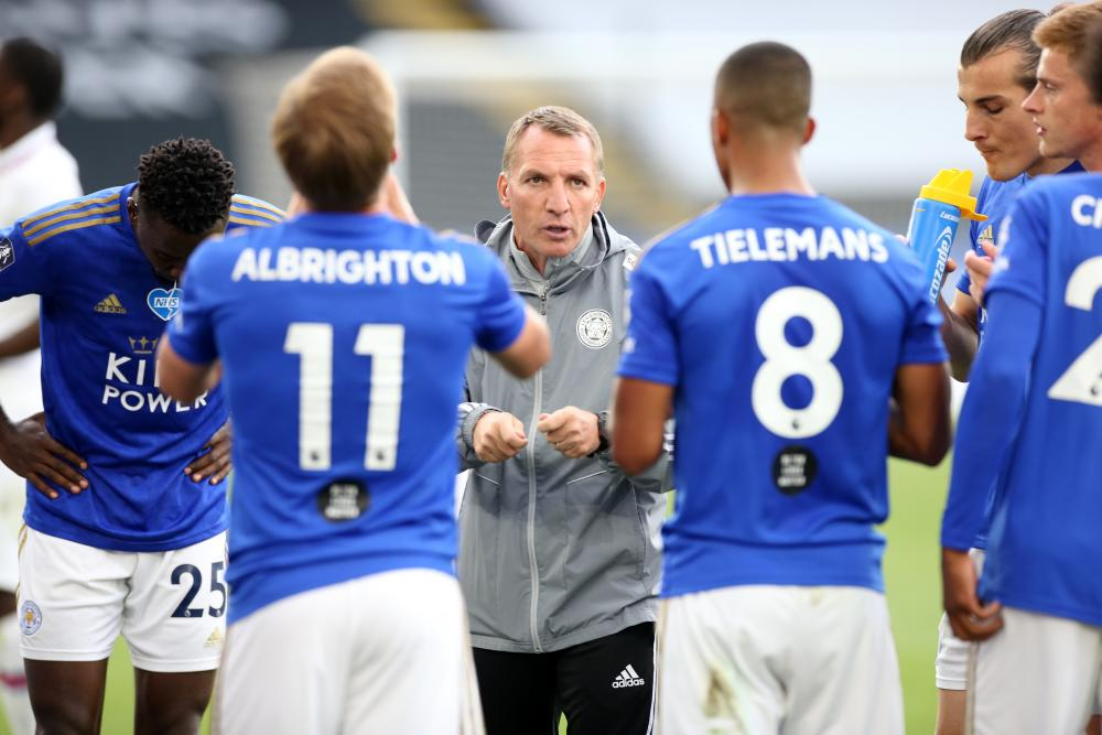 Brendan Rodgers gives instructions