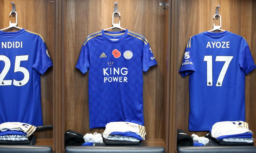 The shirts of Wilfred Ndidi, James Maddison and Ayoze Perez.