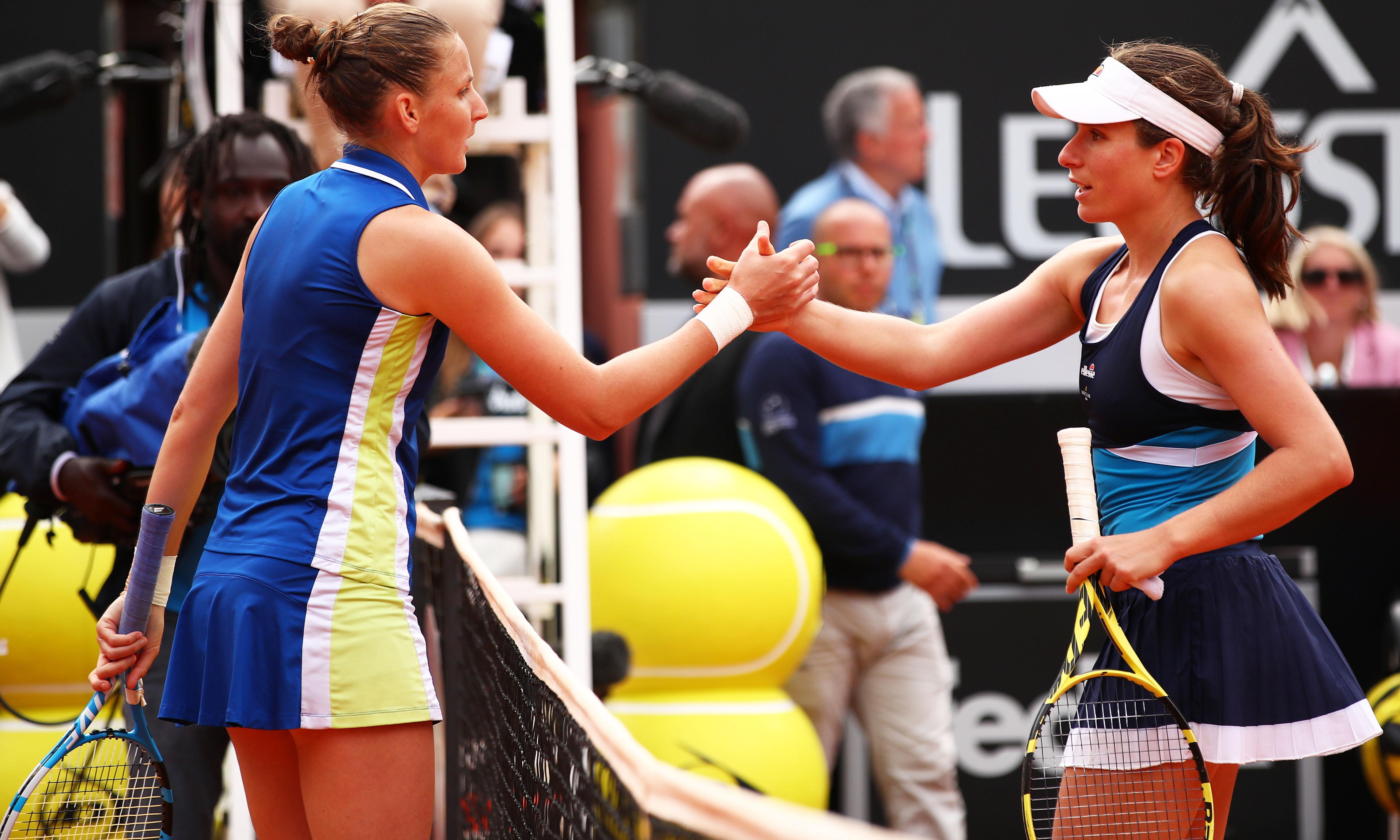 Johanna Konta loses Italian Open final to Karolina Pliskova in straight sets