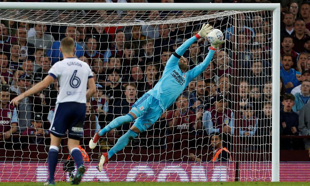 Middlesbrough's Darren Randolph makes a save.