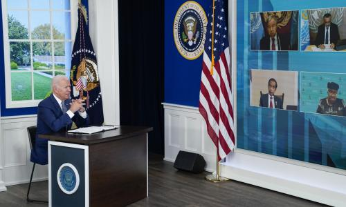 Biden announces US will donate another 500m vaccine doses at Covid summit – as it happened