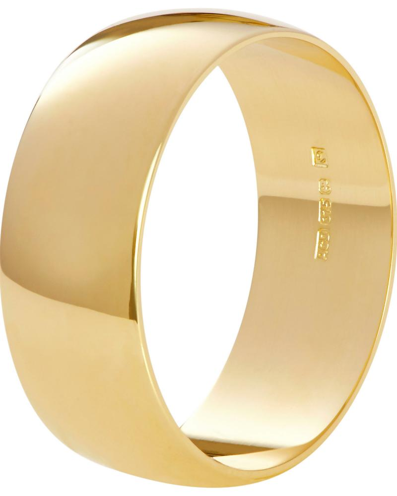 Good as gold: a Fairtrade 9ct gold wedding ring.