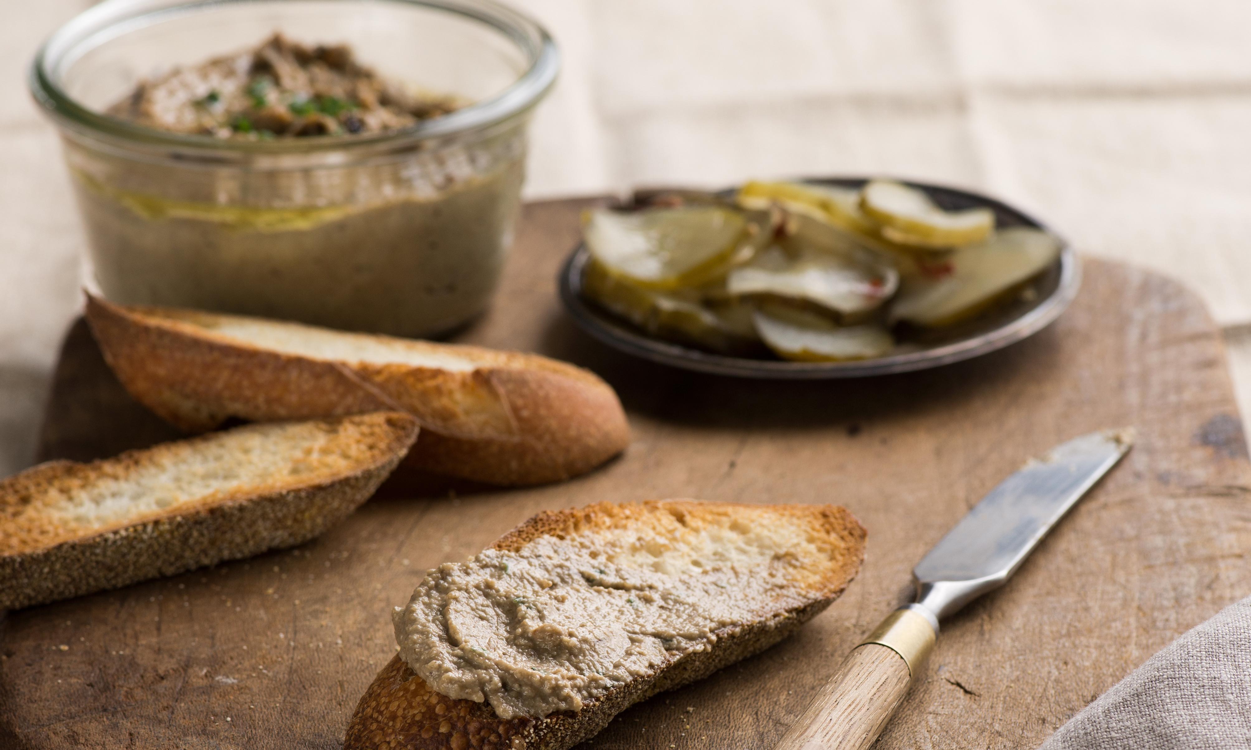 Taking on Veganuary: truffled mushroom paté recipe