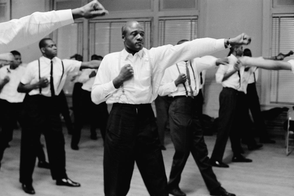 Black Muslims Train in Self-Defense, a 1963 photograph from Gordon Parks.