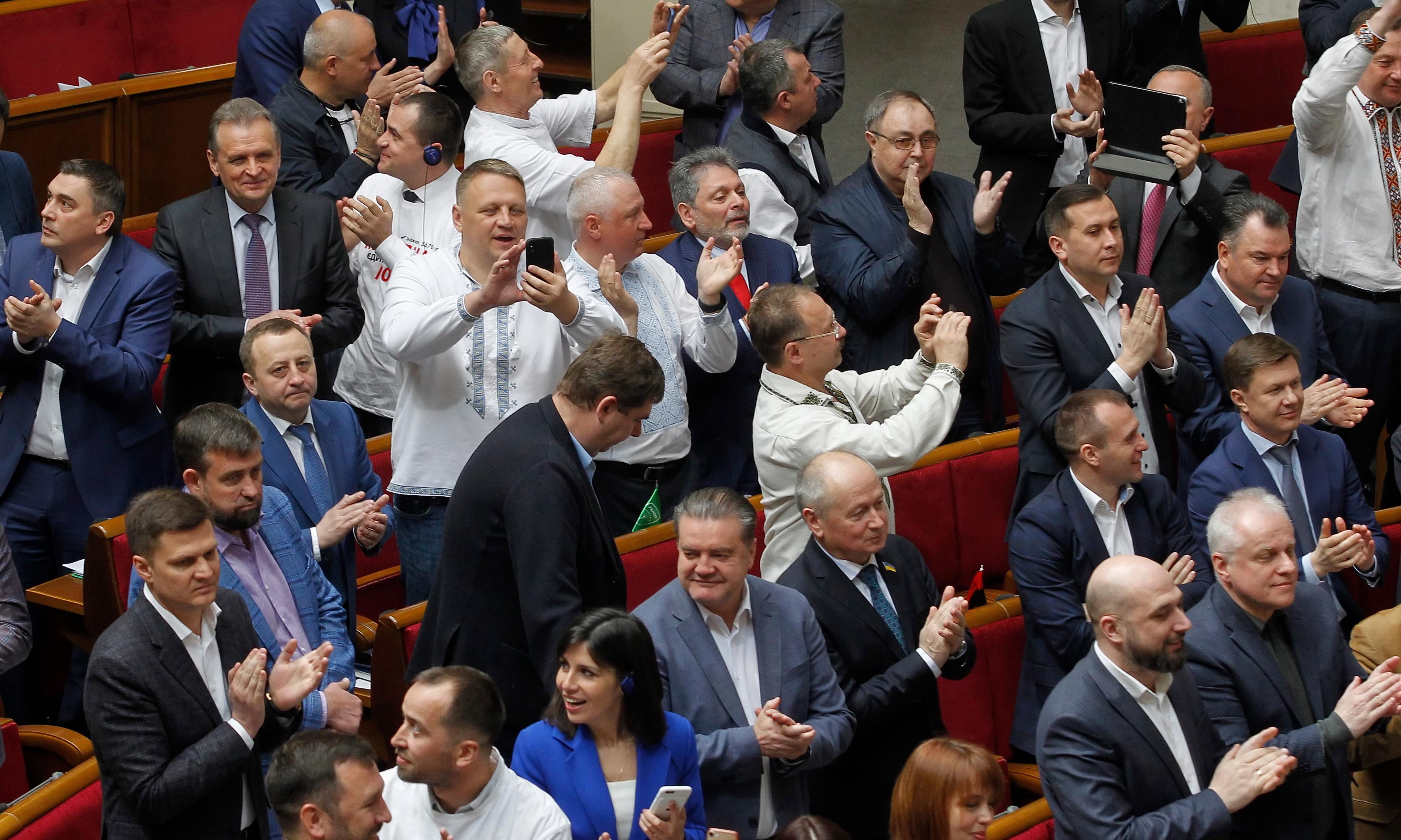 Ukraine adopts language law opposed by Kremlin