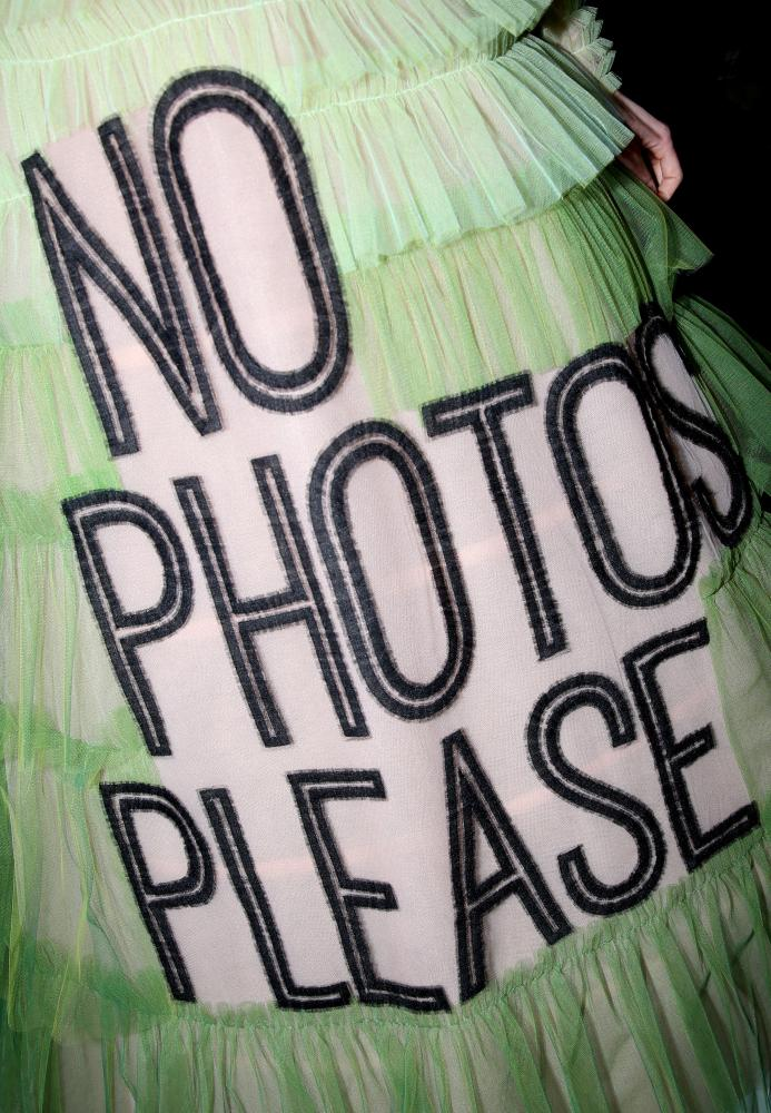 No photos please: Viktor & Rolf