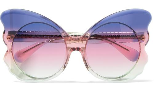 Cat-eye acetate sunglasses, £170, from Net-a-Porter.