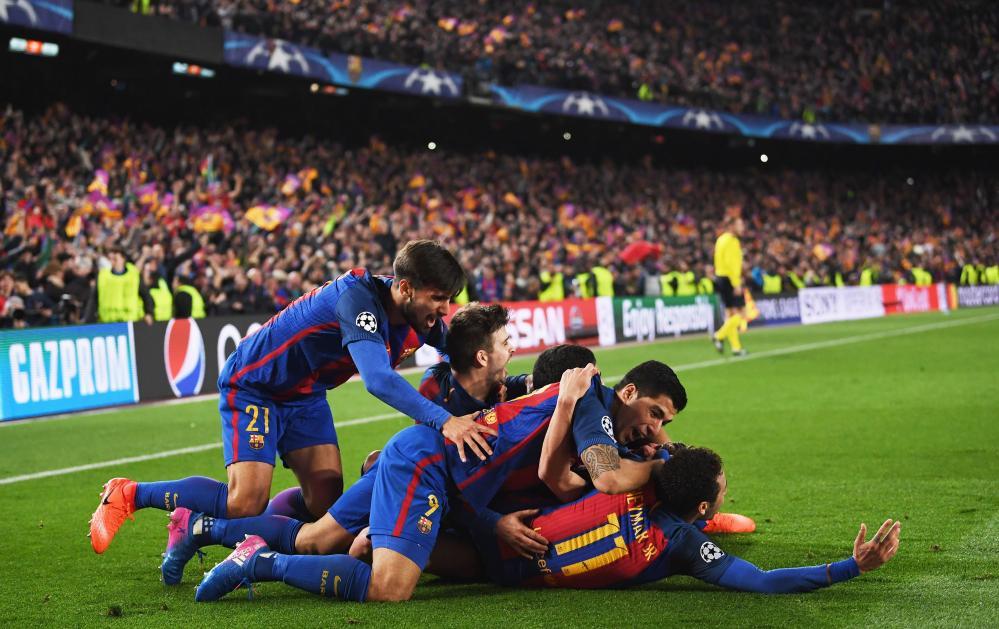 Barcelona celebrate.