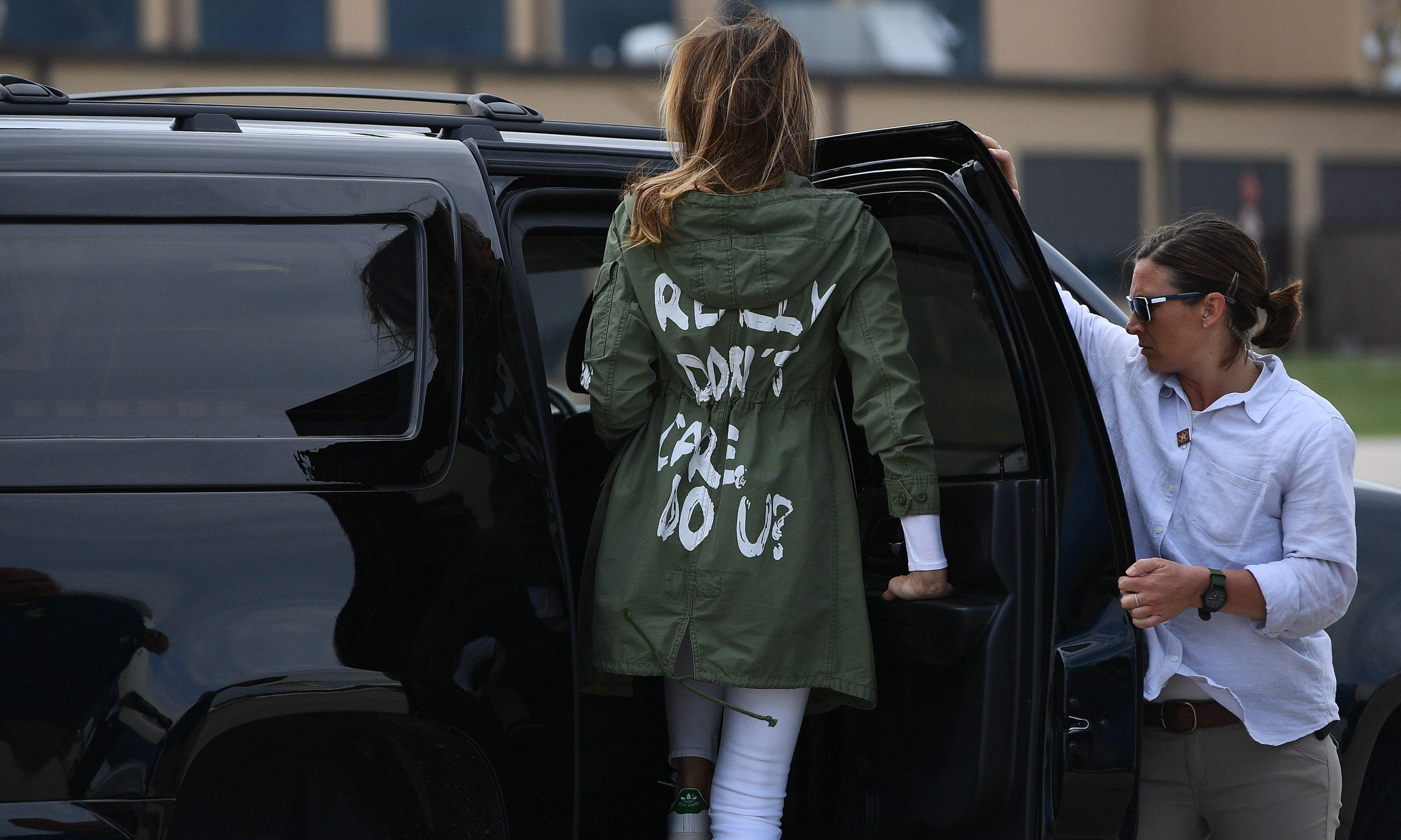 What happened next? How Melania Trump's jacket revealed her true politics to the world