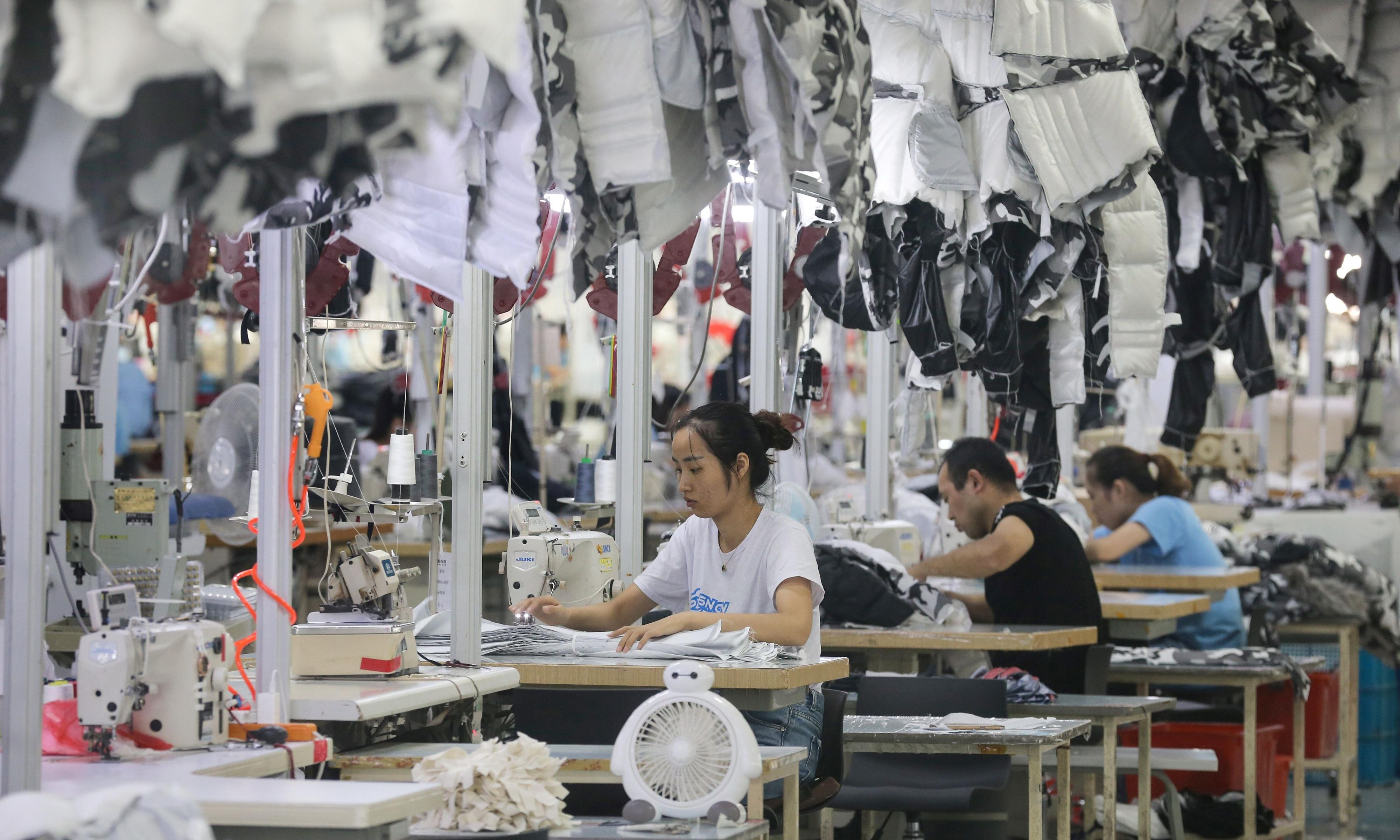 Chinese manufacturing slows as trade war with US dents confidence