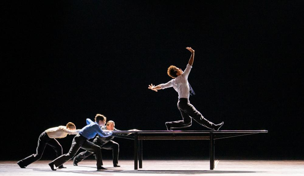 Kristen McNally, Ashley Dean, Calvin Richardson and Joseph Sissens in The Statement by Crystal Pite.