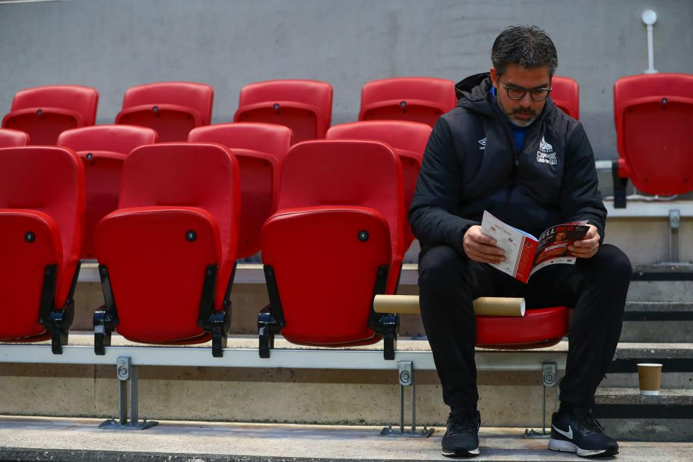 David Wagner before Huddersfield's FA Cup loss at Bristol City.