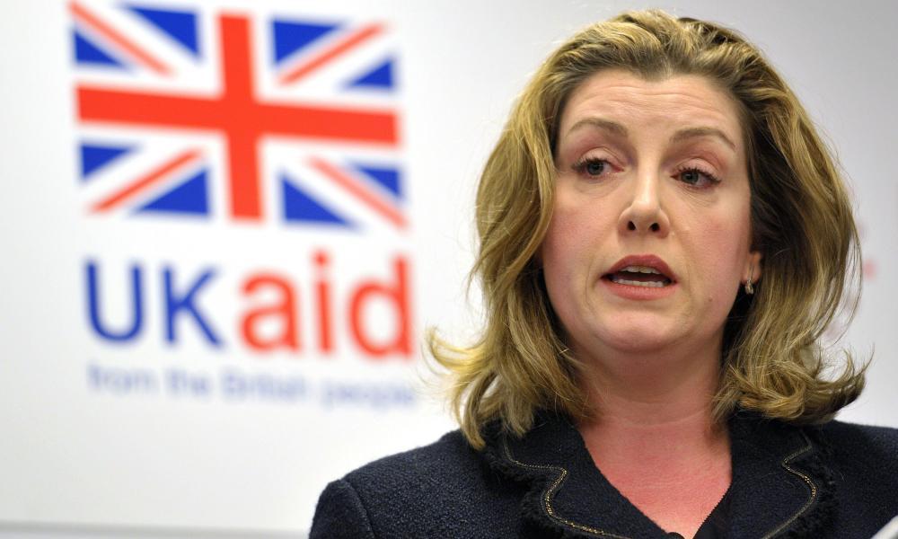 The international development secretary, Penny Mordaunt.