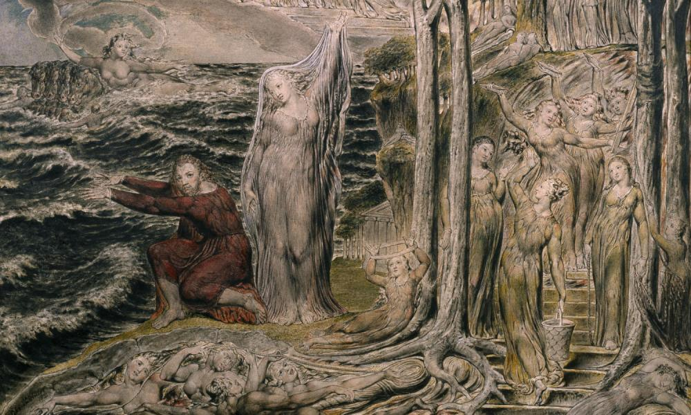 Detail from William Blake's painting, The Sea of Time and Space
