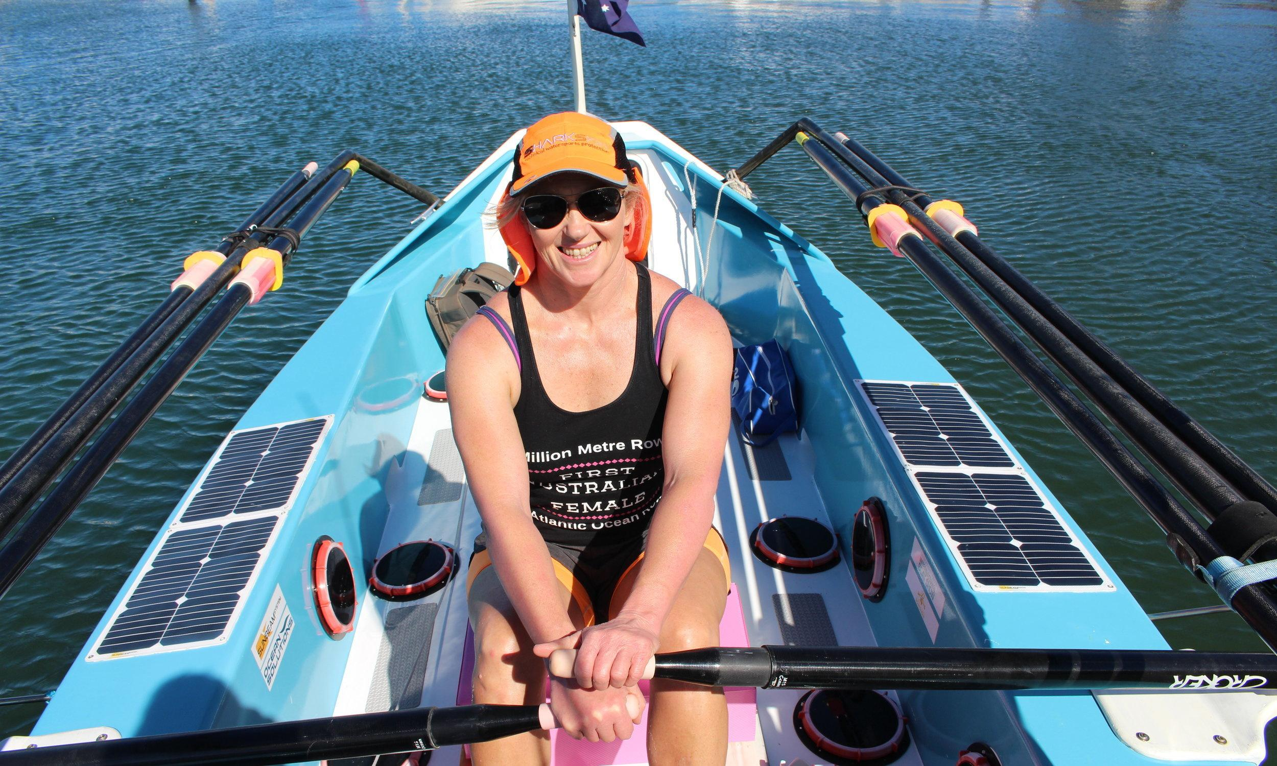 Michelle Lee becomes first Australian woman to cross ocean solo in a rowboat