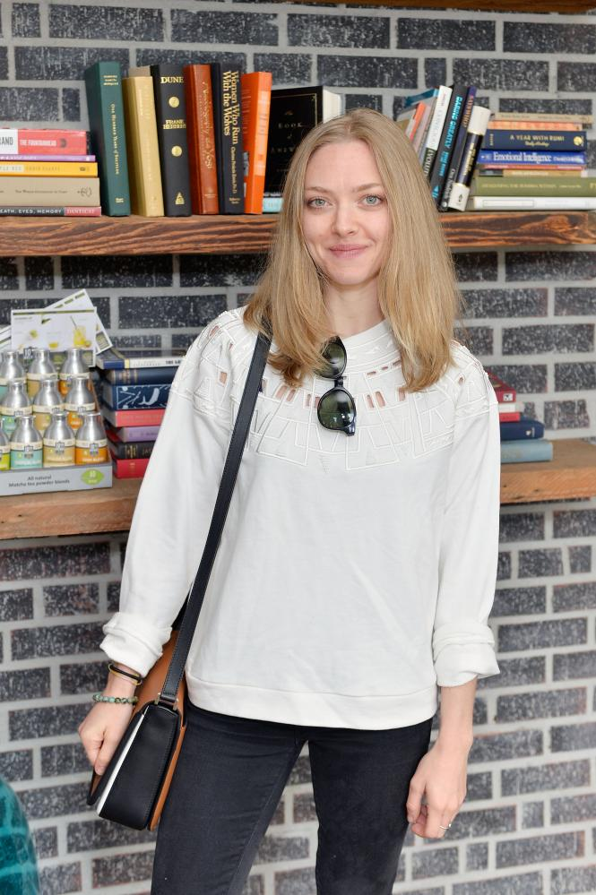 Amanda Seyfried with a Michael Kors Gracie bag in January.