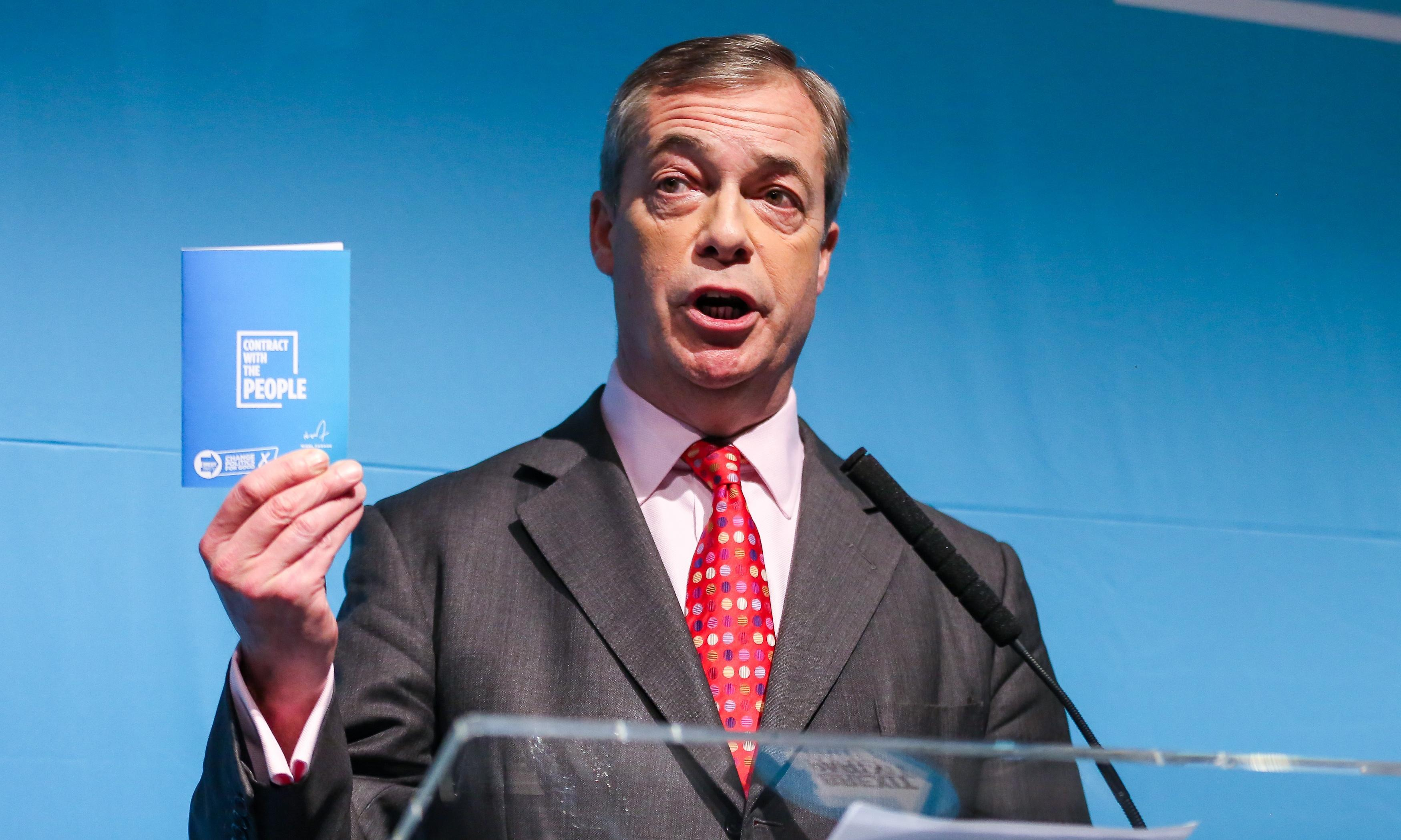 The Brexit party's election pledges: key points