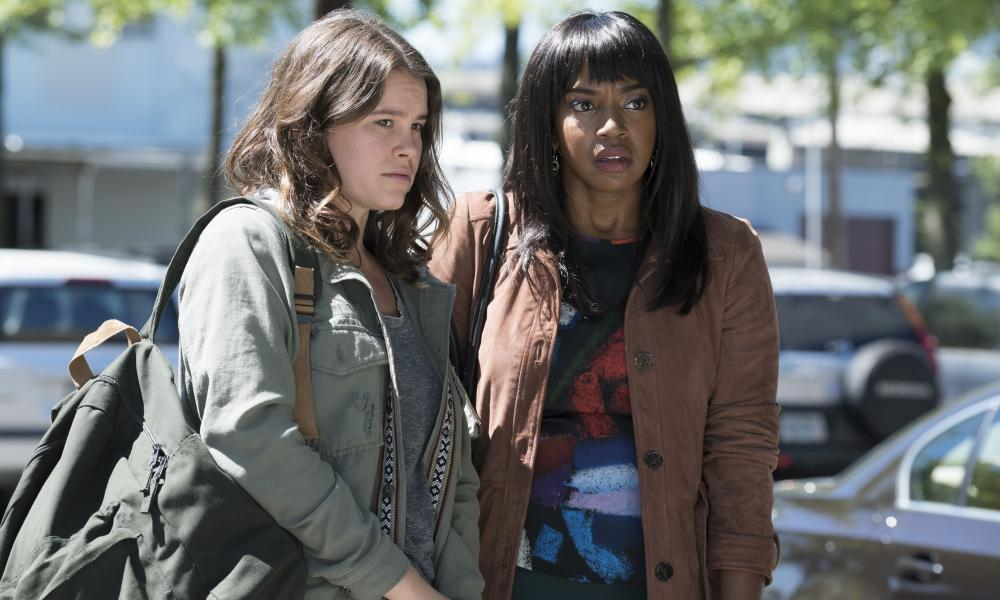 Sosie Bacon and Jerrika Hinton in Here and Now.